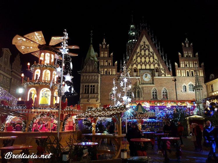 Plaza del Mercado de noche